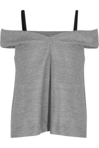 Isa Arfen Off-the-Shoulder Brushed-Jersey Top
