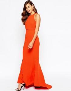 ASOS Crop Top Fishtail Maxi Dress1