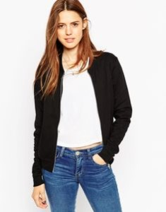 ASOS The Bomber Jacket In Jersey In Cotton