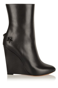 Givenchy Mina Polished-Leather Wedge Boots