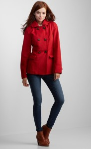 Hooded Pea Coat- Aeropostale