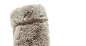 Joshua Saunders beige faux fur boots1