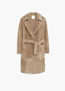 Mango Suede Trench Coat