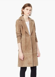 Mango Suede Trench Coat1