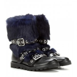 Marc by Marc Jacobs Ricky embellished fur boots