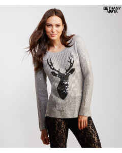 Sequined Reindeer Sweater1