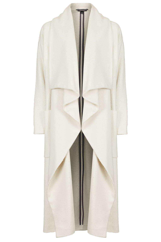 Textured Wool Blanket Coat