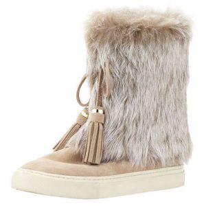 Tory Burch Anjelica fur-cuff boots