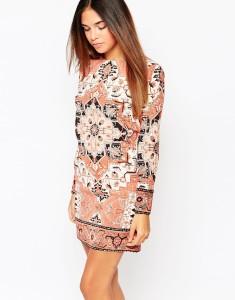 Warehouse Tapestry Print Dress