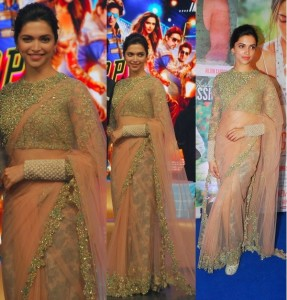 Bollywood Celebrities in Designers Beautiful Saris 2014 (2)