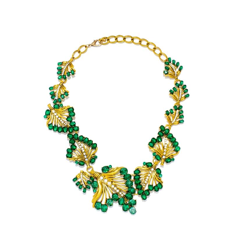 teal_flower_cluster_necklace