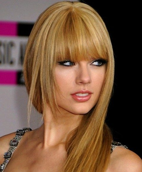 Taylor-Swift-Long-Straight-Hairstyles-Gloden-Layered-Cut