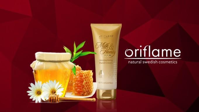 oriflame honey hand cream