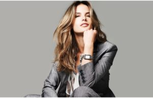 Alessandra-Ambrosio-in-Men-Dress-with-Wrist-Watch