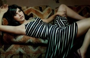 866587-brunettes-dress-sophia-bush-striped-clothing-women