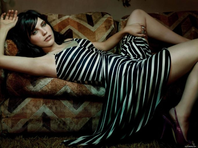 866587-brunettes-dress-sophia-bush-striped-clothing-women