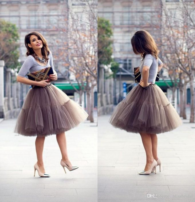 custom-made-knee-length-tulle-gray-women