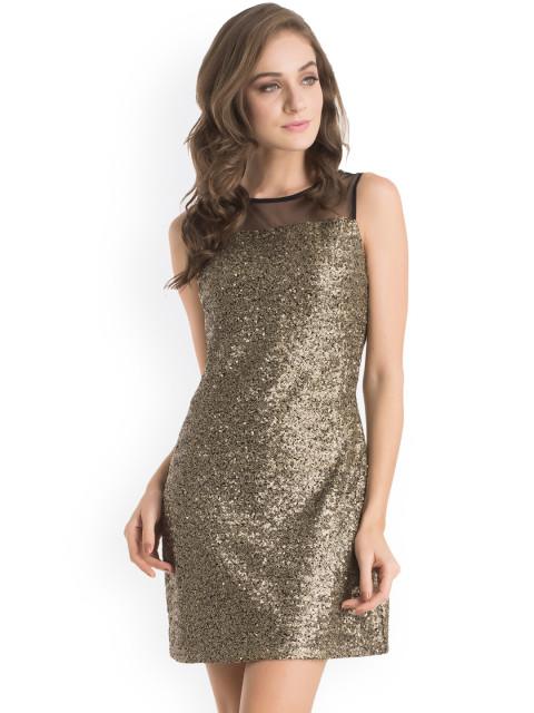 11446713184438-Kazo-Gold-Toned-Sequinned-Sheath-Dress-5001446713184105-1