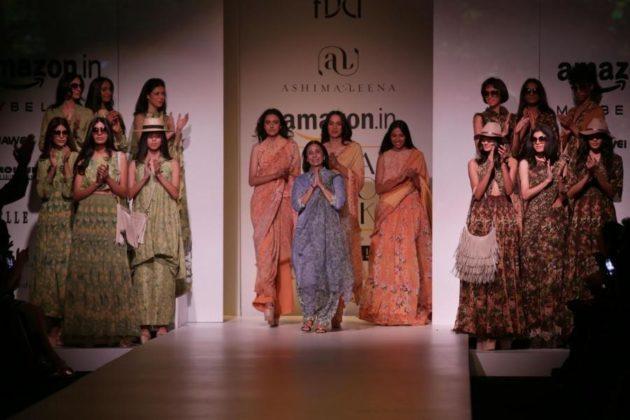 New Delhi: Designer Ashima Leena during her show at the Amazon India Fashion Week Spring/Summer 2017 in New Delhi on Oct 14, 2016. (Photo: Amlan Paliwal/IANS)