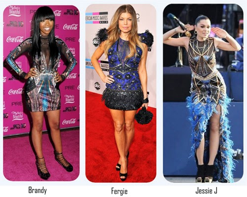 Hollywood-Celebrities-brandy-fergie-jessieJ-wearing-Falguni-and-shane-peacock