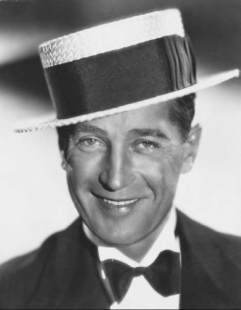 Actor-Maurice-Chevalier-in-Boater-hat