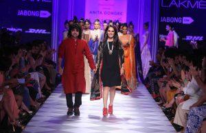 Designer-Anita-Dongre-with-Niladri-Kumar-at-LFW-WF-20141