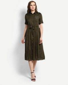 Trendy Khaki Color Dresses _ stylegods