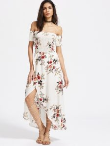 Printed Floral Dress Outfit _ stylegods