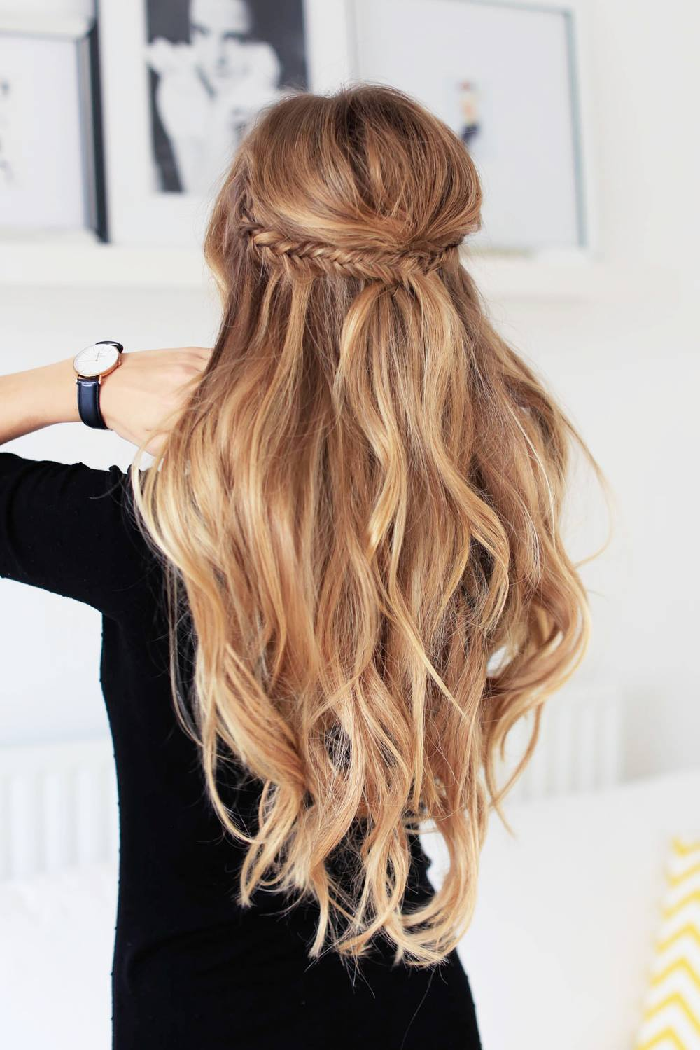 Как сделать локоны только на концах волос