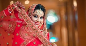 shruti-sharmas-bridal-makeup-client-poses-for-camera