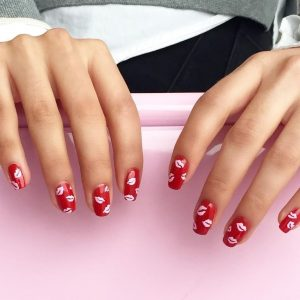 red nail art designs _ stylegods