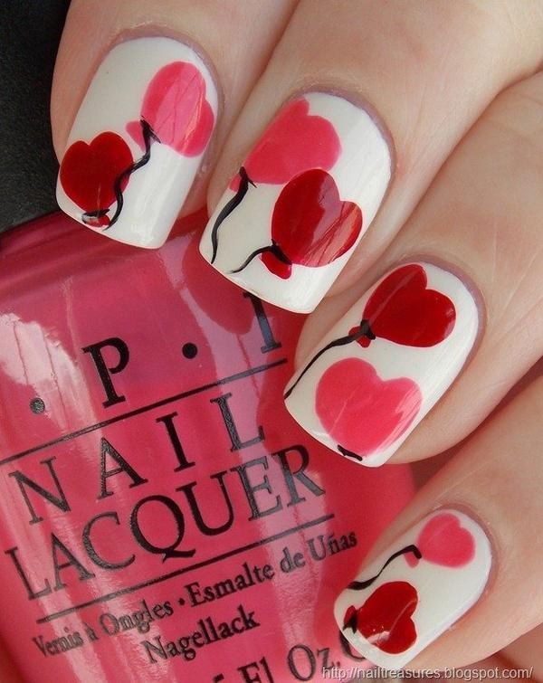 Valentine Nail Art Designs _ Style Gods - Wear Your Heart On Your Nails This Valentine Day: Valentine Nail Art