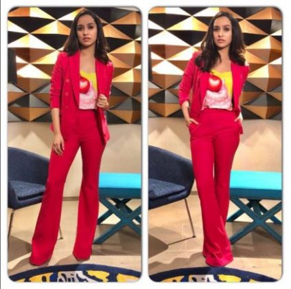 Shraddha-Bollywood Celebrities Fashion Trends _ Style Godsr-in-Paule-Ka-and-Moschino-in-Mumbai1-440×436