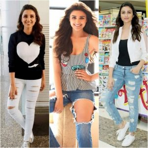 ripped and distressed clothing -Parineeti-Chopra
