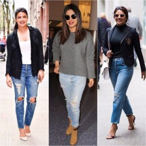 ripped and distressed clothing - Priyanka Chopra