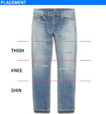 ripped and distressed clothing-Denim Placements