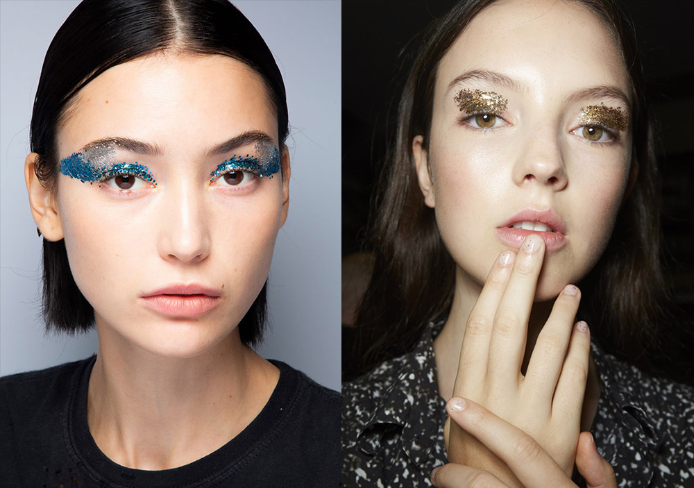 spring-2019-runway-beauty-glitter-eye-makeup