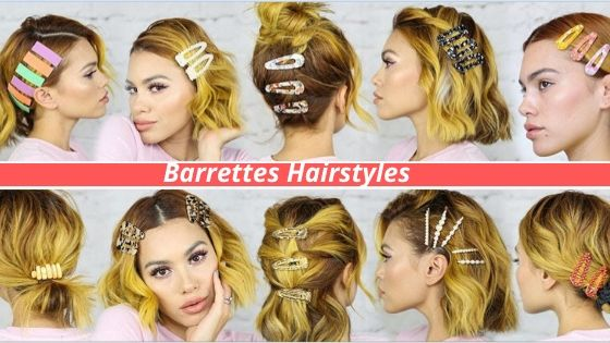 Barrettes Hairstyles StyleGods