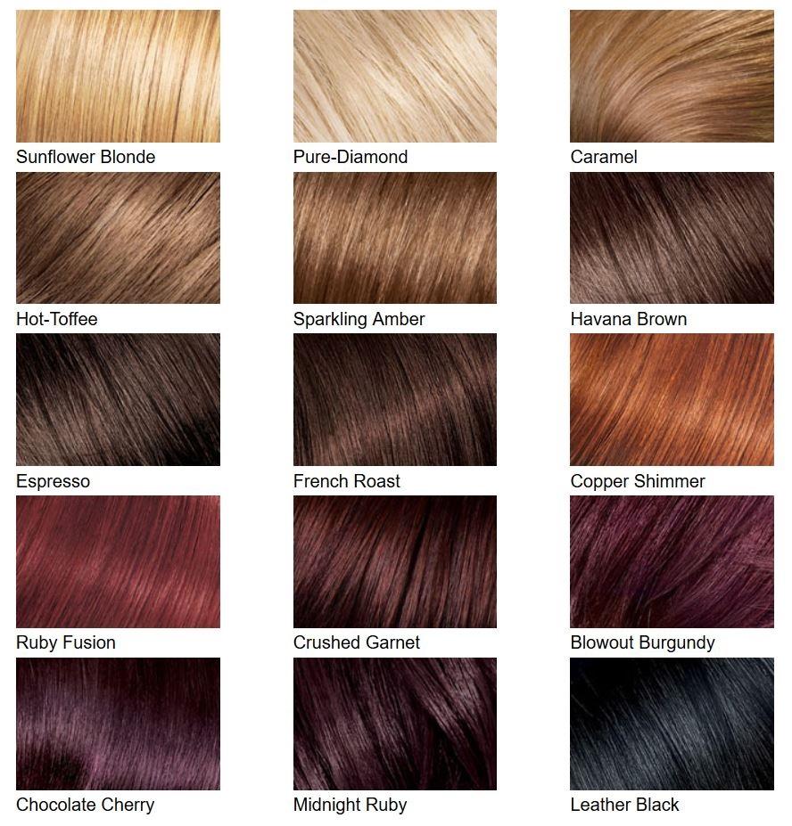 Hair color chart 1 Stylegods