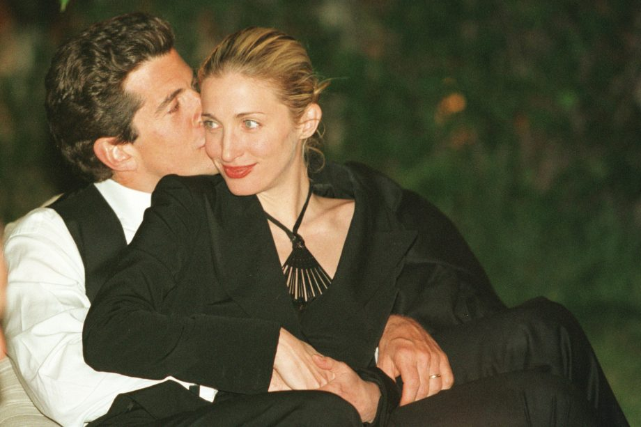 Carolyn Bessette-Kennedy and John F Kennedy Jr.